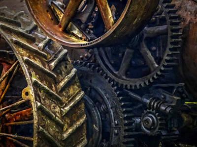 Gears - Painting Art Print by F Leblanc
