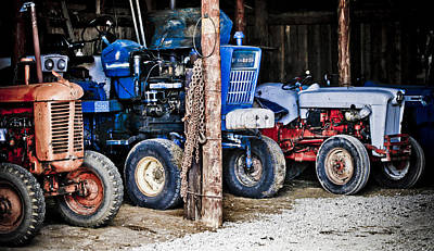 Photograph - Vintage Tractors by Marilyn Hunt