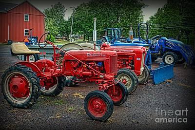 Vintage Tractors Art Print