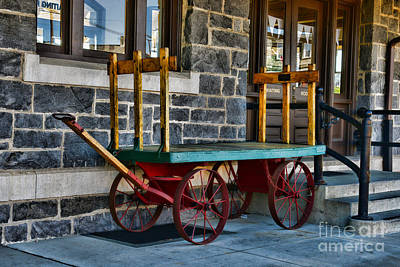 Antique Wagons Photograph - Vintage Train Baggage Wagon by Paul Ward