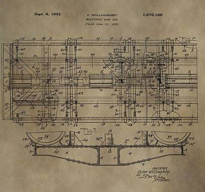 Vintage Train Car Patent Art Print