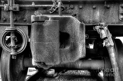 Photograph - Vintage Train Coupler by Michael Eingle
