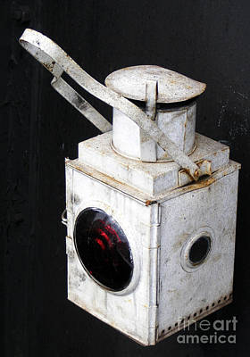 Photograph - Vintage Train Lamp by Nina Ficur Feenan