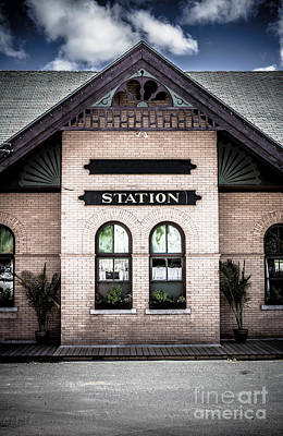 Vintage Train Station Print by Edward Fielding