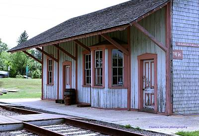 Photograph - Vintage Train Station by Nance Larson