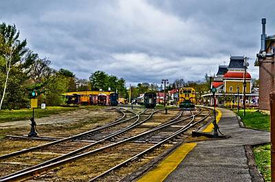 Vintage Conway Photograph - Vintage Train Station by Pat Edsall