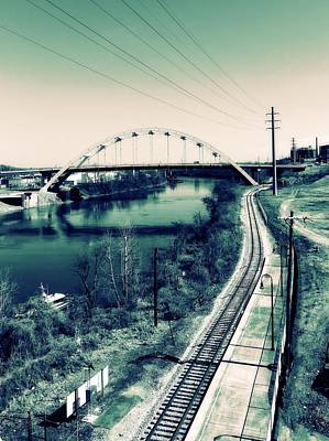 Telephone Poles Photograph - Vintage Train Tracks In Nashville by Dan Sproul