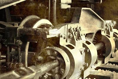 Photograph - Vintage Train Wheel by Dan Sproul