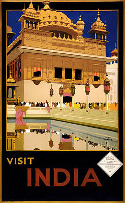 Vintage Travel Poster - Visit India 1935 Art Print