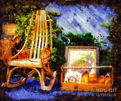 Vintage Treasures Milford Art Print by Janine Riley