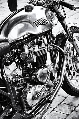 Photograph - Vintage Triton Cafe Racer by Tim Gainey