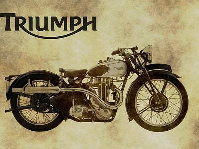 Photograph - Vintage Triumph Motorcycles by Dan Sproul