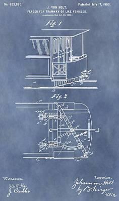 Vintage Trolley Fender Patent Art Print by Dan Sproul