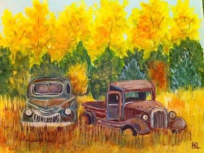 Painting - Vintage Trucks by Belinda Lawson