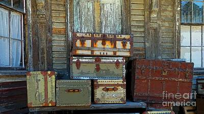 Photograph - Vintage Trunks   Sold by Marcia Lee Jones