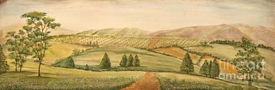 Vintage Tuscan Landscape-2 Original