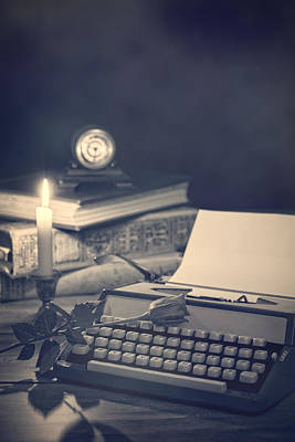 Typewriter Photograph - Vintage Typewriter by Amanda Elwell