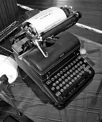Photograph - Vintage Typewriter by Holly Blunkall
