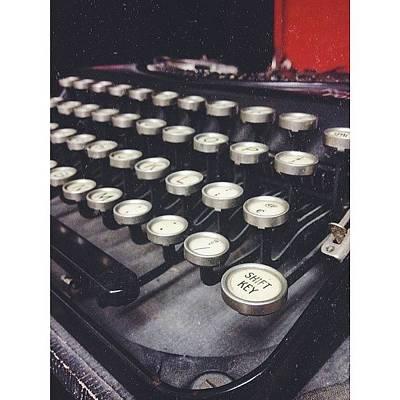 #vintage #typewriter #shift #shiftkey Art Print