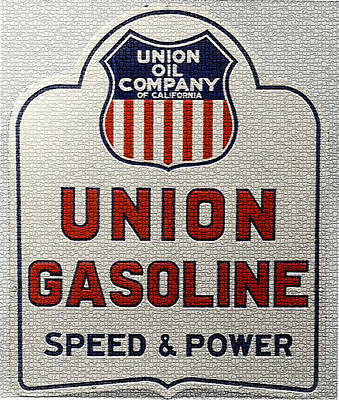 Digital Art - Vintage Union Oil Company Metal Sign by Marvin Blaine