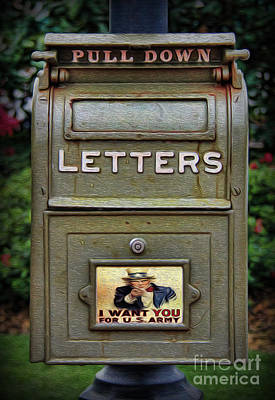 Vintage Us Mailbox II Art Print by Lee Dos Santos