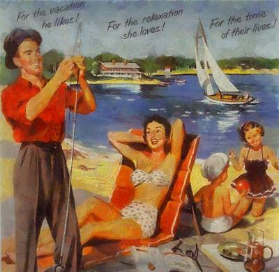 Agents Mixed Media - Vintage Vacation Poster by Dan Sproul