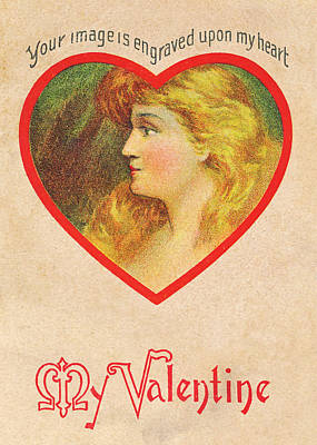 Photograph - Vintage Valentine 1 by David and Carol Kelly