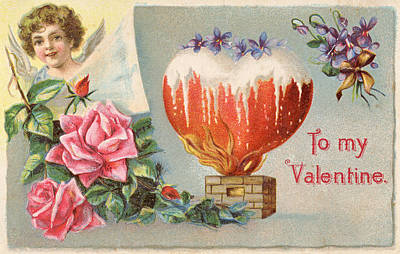 Photograph - Vintage Valentine 2 by David and Carol Kelly