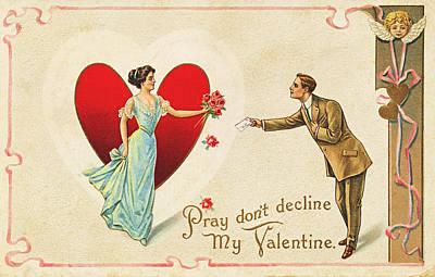 Photograph - Vintage Valentine 3 by David and Carol Kelly