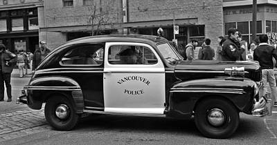 Photograph - Vintage Vancouver Police Car by Brian Chase