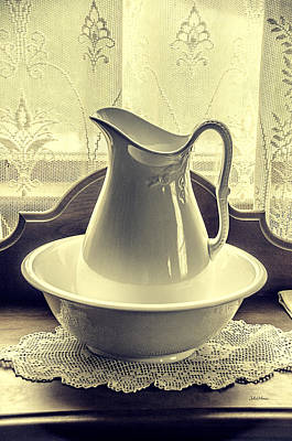 Photograph - Vintage Vase And Basin by Julie Palencia