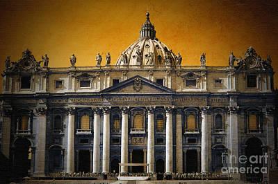 Photograph - Vintage Vatican by Karen Lewis