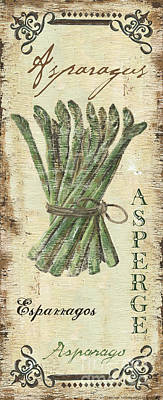 Asparagus Painting - Vintage Vegetables 1 by Debbie DeWitt