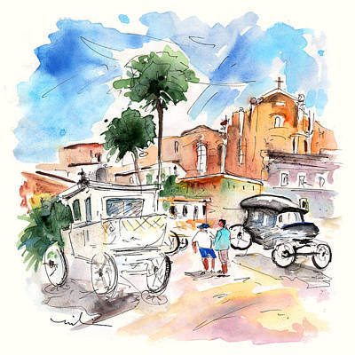 Painting - Vintage Vehicles In Noto by Miki De Goodaboom