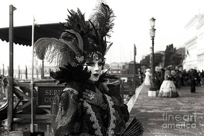 Photograph - Vintage Venice Carnival by John Rizzuto