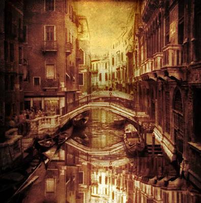 Venice Digital Art - Vintage Venice by Jessica Jenney