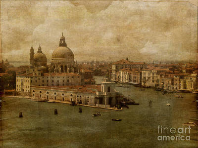 Boats In Water Photograph - Vintage Venice by Lois Bryan