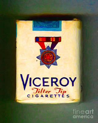 Photograph - Vintage Viceroy Cigarette - Painterly by Wingsdomain Art and Photography