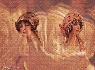 Digital Art - Vintage Victorian Rivals II by Femina Photo Art By Maggie