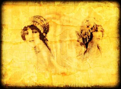 Digital Art - Vintage Victorian Rivals I by Maggie Vlazny