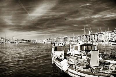 Photograph - Vintage Vieux Port by John Rizzuto