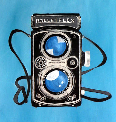 Vintage Camera Painting - Vintage View Camera by Karyn Robinson