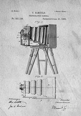 Studio Drawing - Vintage View Camera Patent Art by Edward Fielding