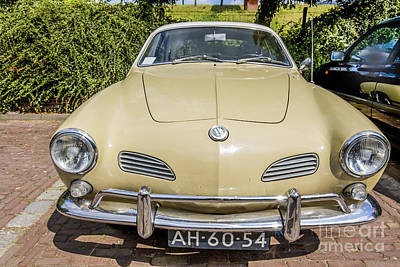 Fruits And Vegetables Still Life - Vintage Volkswagen Karmann Ghia from 1970 by Patricia Hofmeester