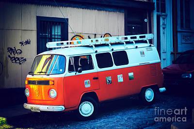 Photograph - Vintage Volkswagen Van by John Rizzuto