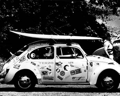 Surfing Photograph - Vintage Vw Bug Ready To Surf by Retro Images Archive