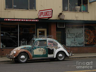 Photograph - Vintage Vw Bug With Hemp Bumper by Windy Mountain