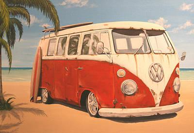 Painting - Vintage Vw Bus by Branden Hochstetler
