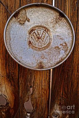 Photograph - Vintage Vw Hubcap by Kerri Mortenson