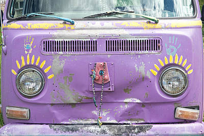 Photograph - Vintage Vw Magic Hippy Bus by James BO  Insogna